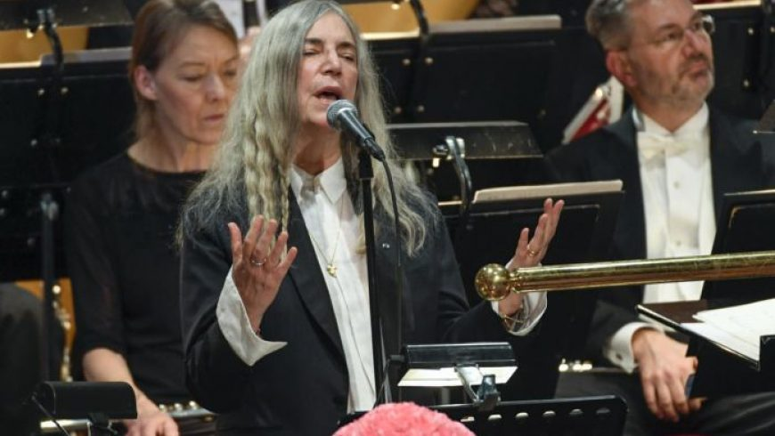 A transcendent Patti Smith accepts Bob Dylan's Nobel prize