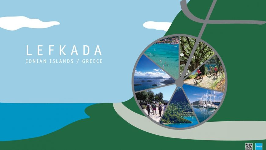 The beauties of Lefkada imprinted at promotional posters