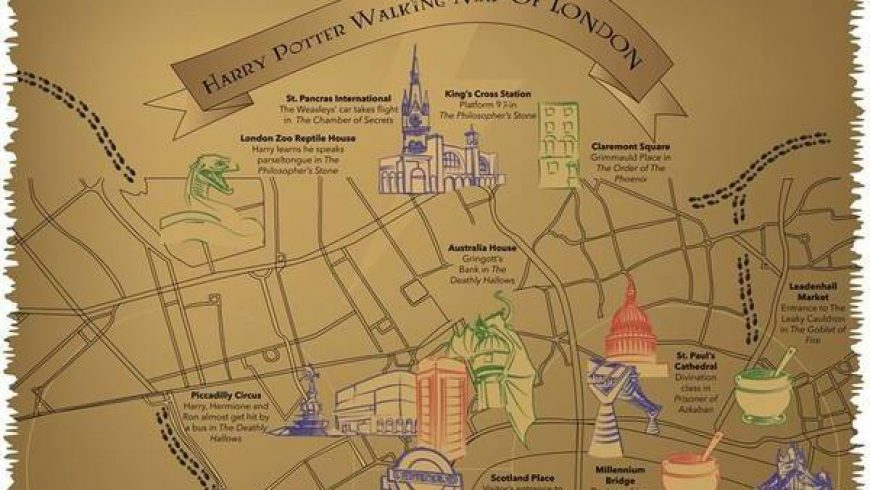 This magical map shows you all the Harry Potter locations in London