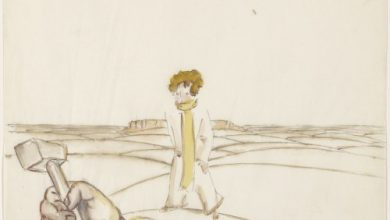 "Antoine de Saint-Exupéry's original watercolors for ""The Little Prince"""