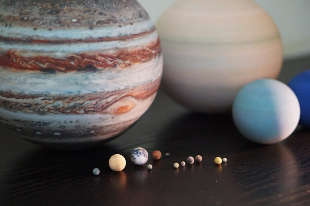 3D-Printed Solar Systems, Moons and Planets for Your Desktop