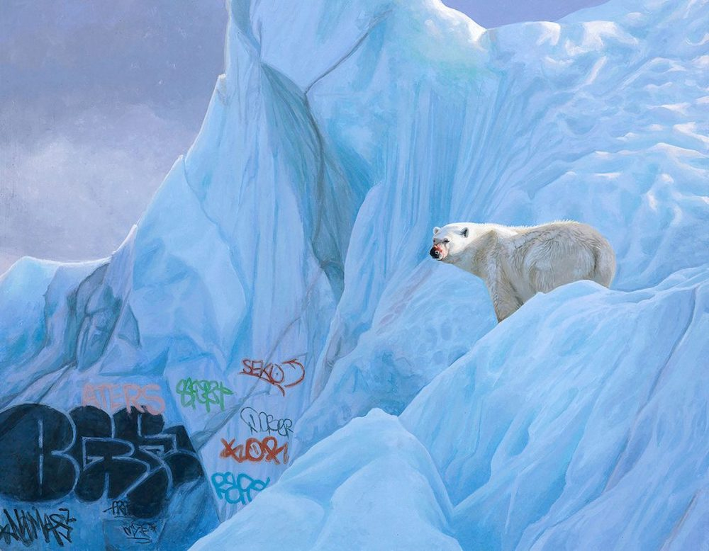 New 'Eco-Surrealist' Paintings by Josh Keyes Observe a Post-Human World