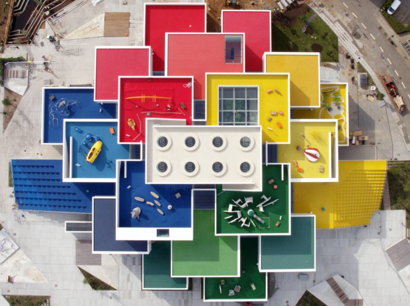 Twenty-One Colorful Cubes Compose Denmark's Newly Opened Lego House