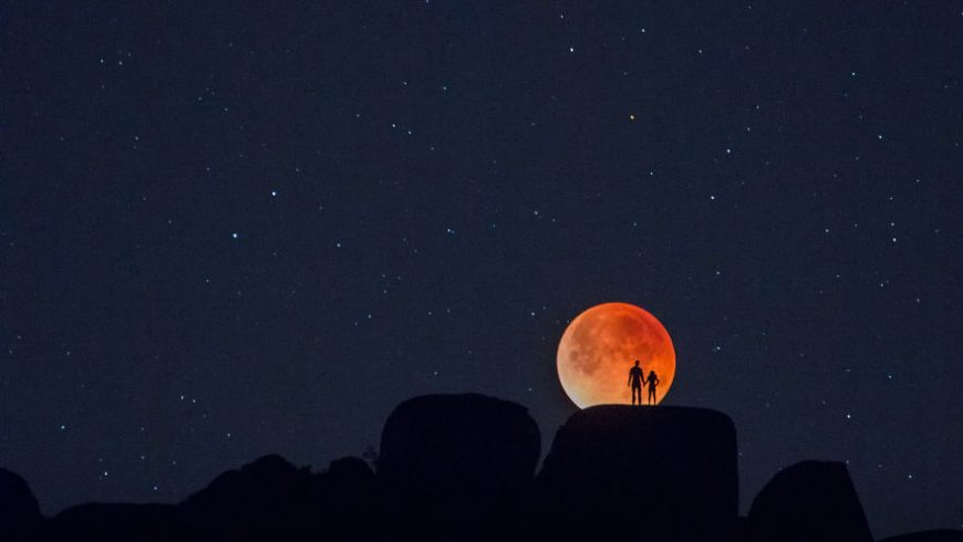 """Incredible images of the rare """"Super Blue Blood Moon"""""""