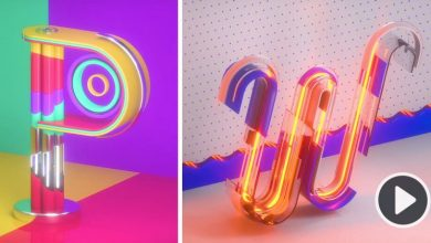 A colorful medley of inventive type animations puts the alphabet in motion