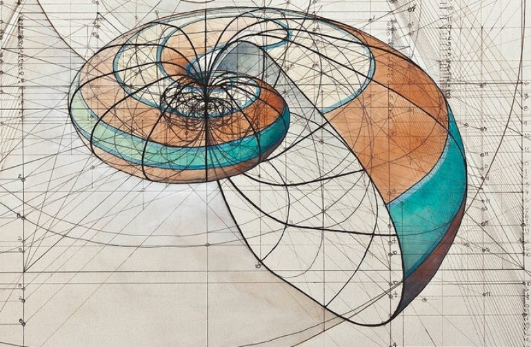 Coloring book celebrates mathematical beauty of nature with hand-drawn golden ratio illustrations