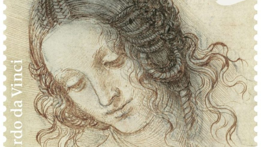 A dozen new stamps celebrate Leonardo da Vinci's drawings
