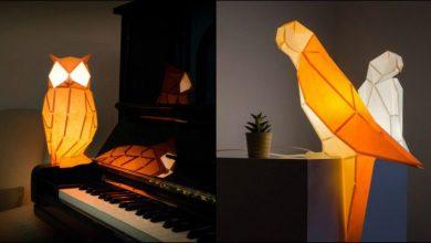 DIY χάρτινα πλάσματα «ζωντανεύουν» με κρυφό φωτισμό