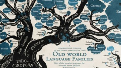 Το δέντρο των γλωσσών σε ένα εκπληκτικό infographic. Οι ρίζες, τα παρακλάδια, οι οικογένειες και οι συγγένειες