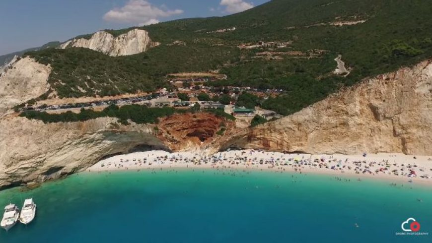Drone επάνω από τη Λευκάδα και τις όμορφες παραλίες της