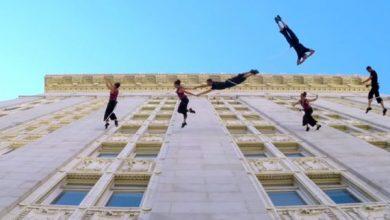 Χορεύοντας στους τοίχους των κτιρίων