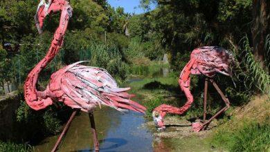 Γλυπτά ζώων από σκουπίδια κατά της ρύπανσης