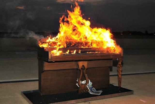 The Strange Custom of Setting Pianos on Fire