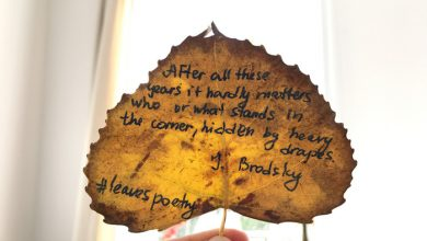 #LeavesPoetry – Ποίηση σε νεκρά φύλλα