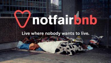 Ένα ψεύτικο Airbnb για αληθινούς άστεγους