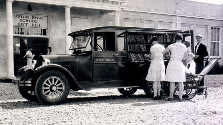 Before Amazon there was bookmobiles