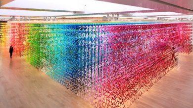 """60.000 αριθμοί και 100 χρώματα στο installation """"Forest of Numbers"""""""
