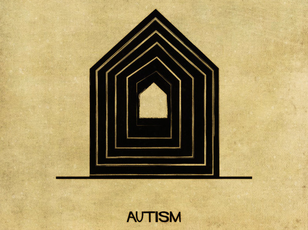Using architecture to explain 16 mental illnesses and disorders