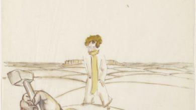 """Antoine de Saint-Exupéry's original watercolors for """"The Little Prince"""""""