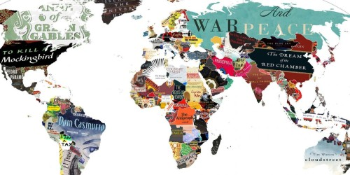 Ένας υπέροχος λογοτεχνικός χάρτης του κόσμου