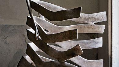Twisting bronze figural sculptures by Isabel Miramontes