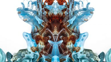 Inks, dyes and paints in water creates surreal images
