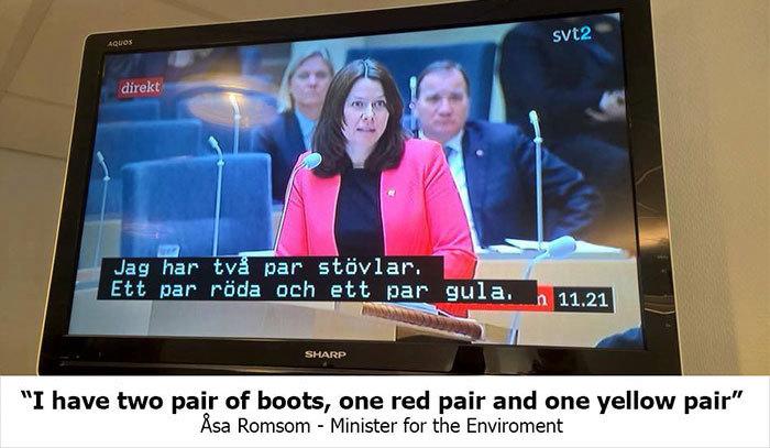 Δείτε τι συνέβη όταν ένα σουηδικό κανάλι έβαλε, κατά λάθος, υπότιτλους από παιδικό σε ένα πολιτικό ντιμπέιτ