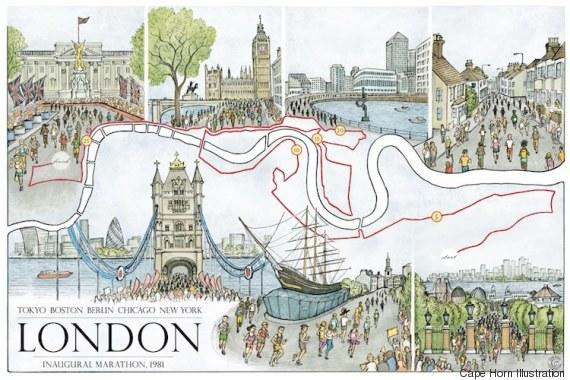 Ένας δρομέας εικονογραφεί τις μαραθώνιες διαδρομές που τρέχει και δημιουργεί μικρά έργα τέχνης
