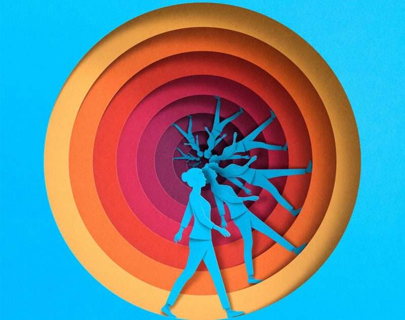 New Paper Textured Editorial Illustrations by Eiko Ojala