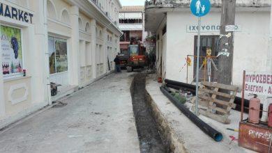Εργασίες κατασκευής δικτύου αποχέτευσης στη Λευκάδα και τη Βασιλική