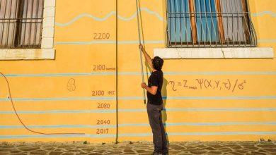 «Το Κλίμα», ένα γκράφιτι με επιστημονικά στοιχεία στην όψη της Βενετίας