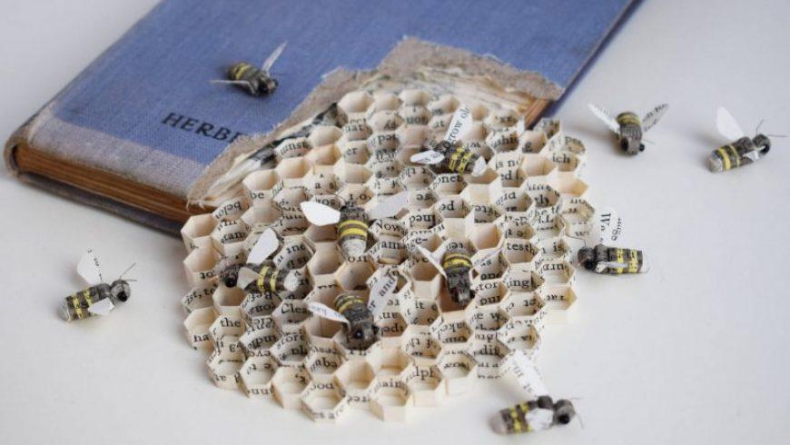 New Paper & Textiles Wildlife Sculptures by Kate Kato