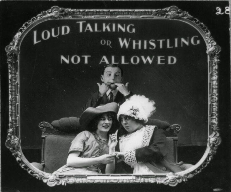 Vintage αφίσες για το πως να συμπεριφέρεσαι -ή όχι- όταν πας σινεμά