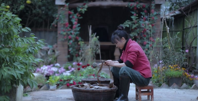 A Relaxing Video Demonstrates the Detailed Steps of Making Paper by Hand