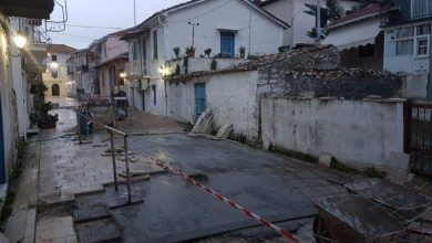 Αποκατάσταση πλακοστρώσεων ιστορικού κέντρου από το Δήμο Λευκάδας