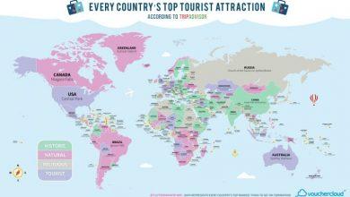 Όλα τα κορυφαία αξιοθέατα στον κόσμο σε έναν υπέροχο χάρτη