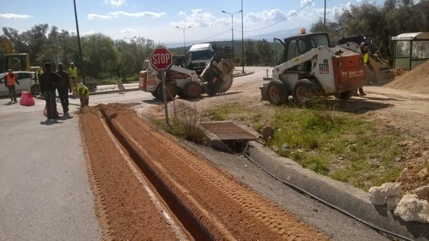 Τοποθέτηση νέου σωλήνα υδροδότησης στην τοπική κοινότητα Φτερνού