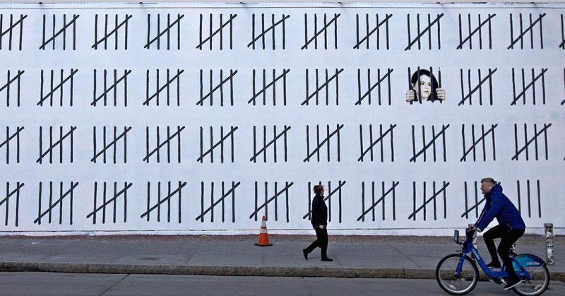 Banksy emerges in New York and calls attention to imprisoned Turkish Artist Zehra Doğan