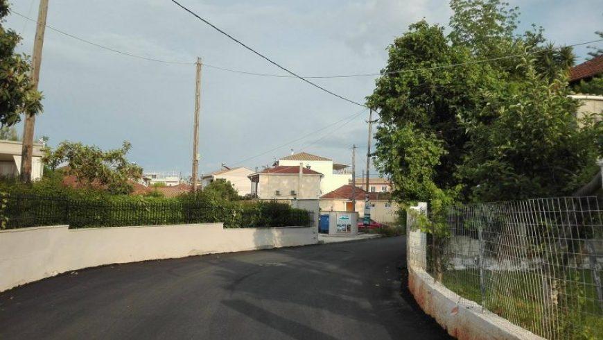 Ολοκλήρωση ασφαλτόστρωσης της οδού Βαλαωρίτου στο Νυδρί
