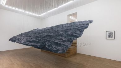 Incredible installations suspend stormy ocean waves indoors