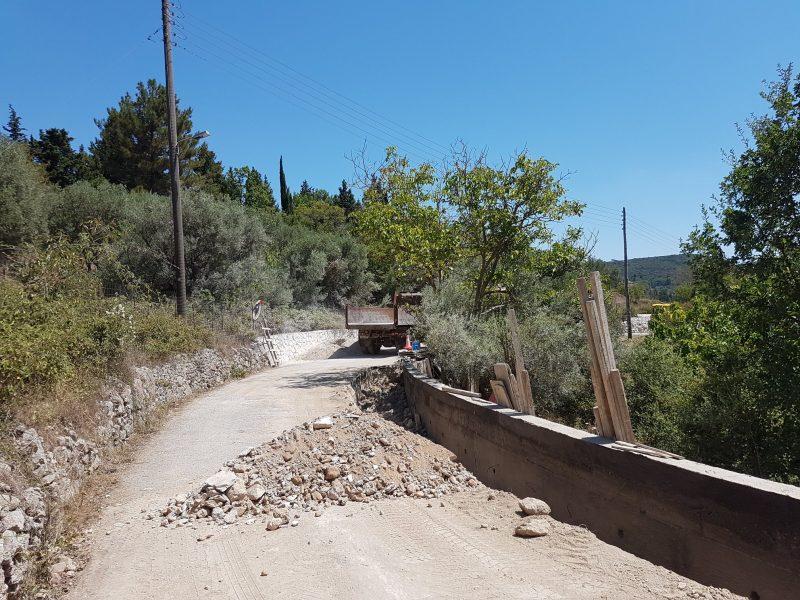 Ολοκληρώθηκε η αποκατάσταση του δρόμου στη θέση «Γκιόκα»