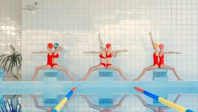 New Synchronized Photographs of Swimmers by Mária Švarbová