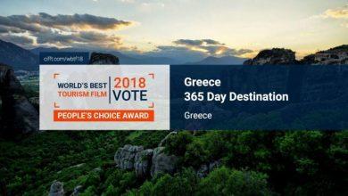 Greece – A 365 Day Destination: Φαβορί σε διεθνή διαγωνισμό το βίντεο του ΕΟΤ