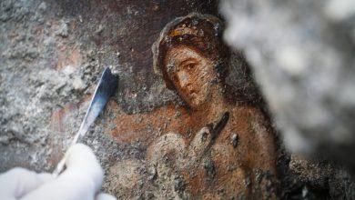 Βρήκαν τοιχογραφία με τη Λήδα και τον κύκνο στις στάχτες της Πομπηίας