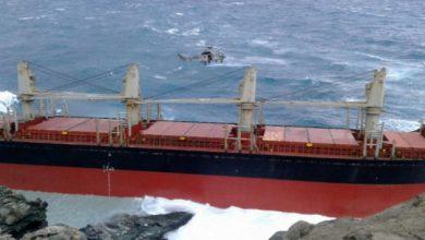 Προσάραξη πλοίου σε βράχια στη Λευκάδα