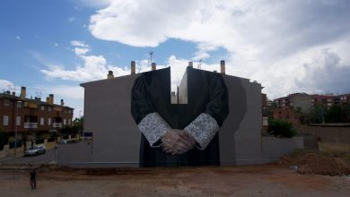 Personal complexities explored through monumental murals by Hyuro