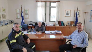 Συνάντηση του Αντιπεριφερειάρχη Λευκάδας με τον νέο διοικητή της Πυροσβεστικής
