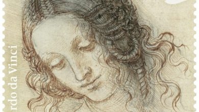 A dozen new stamps celebrate Leonardo da Vinci's drawings