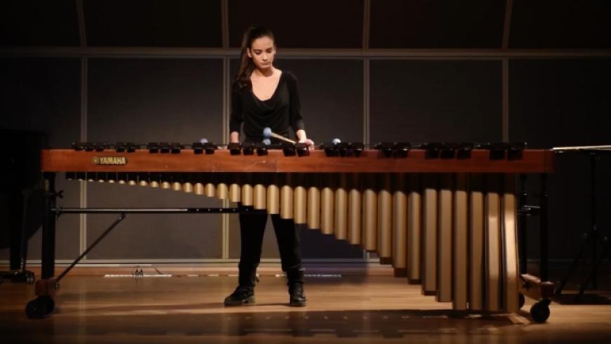 Ρεσιτάλ Μαρίμπας της Άννας Καταγή στο Μουσικό Σχολείο Λευκάδας