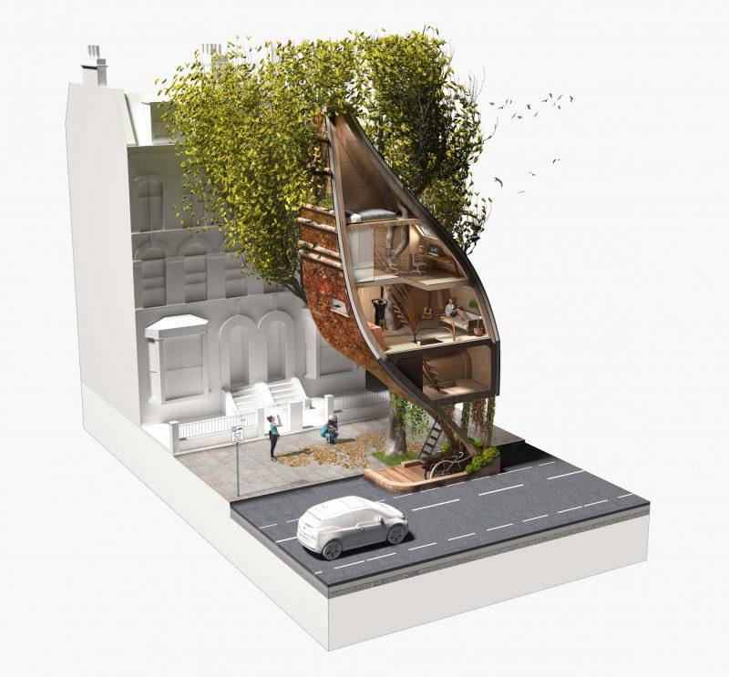 Δεντρόσπιτα στο κέντρο της πόλης: μια όχι και τόσο ουτοπική αρχιτεκτονική